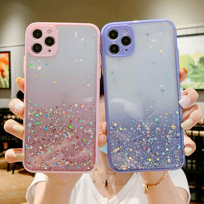AU10.99 • Buy Cute Bling Glitter Clear Case Girls Cover For IPhone 8 Plus 7 Plus 11 Pro Max
