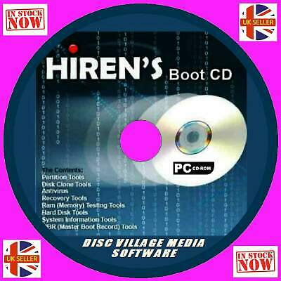 £4.49 • Buy Hirens Boot Cd Virus-malware Cleaners Mbr Diagnose Reg Tools Repair Recovery New