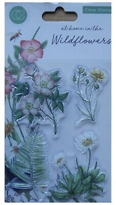 Craft Consortium Clear Rubber Stamp Set AT HOME IN THE WILDFLOWERS • 4.99£