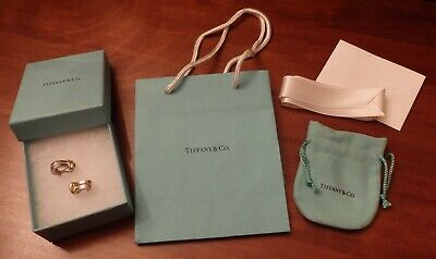 £500 • Buy Tiffany & Co 18ct Gold And Sterling Silver Atlas Bar Earrings