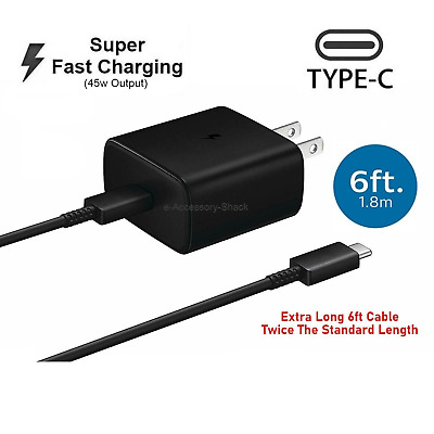 $ CDN23.13 • Buy 45w USB-C Super Fast Wall Charger+6ft Cable For Samsung Galaxy Note 10+5G+Lite
