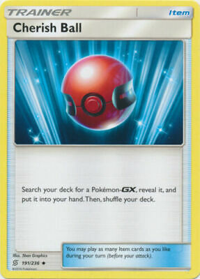 Cherish Ball 191/236 Unified Minds Uncommon Light Play Pokemon DNA GAMES • 2.14£