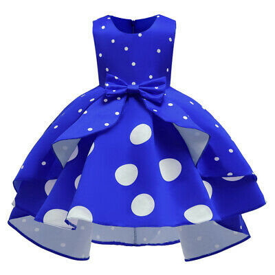 Polka Dot Printed Vintage Clothing Party Dress For Kids Children 1pc • 17.52£