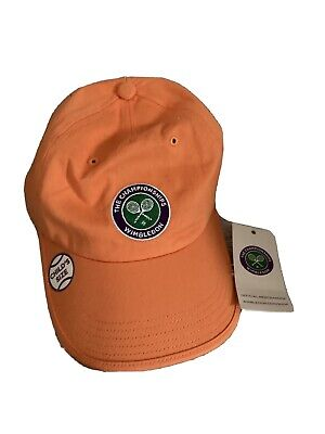 Wimbledon The Championships Logo Baseball Hat Cap Coral Cotton Child's Size • 18.20£