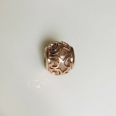 AU42 • Buy Pandora Rose Gold And Faceted Murano Filigree Hearts Openwork  Charm