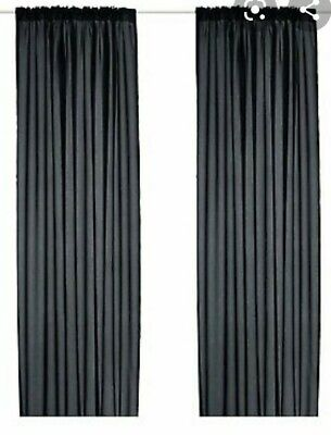 IKEA Wilma Black Curtains 18684 Thin Blinds/curtains RARE  • 5£