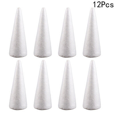 £5.72 • Buy 12Pcs Solid Polystyrene Cone For Art Projects Wedding Christmas Tree Decoration