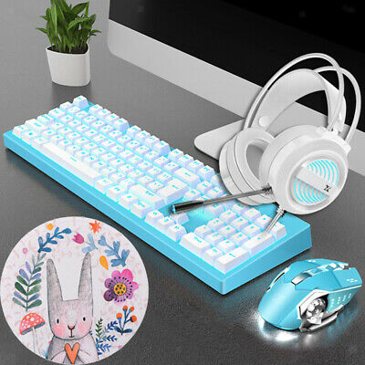 AU55.38 • Buy Wired Gaming Keyboard And Mouse Set, Gaming Mouse Pad,Gaming Headset, All In 1