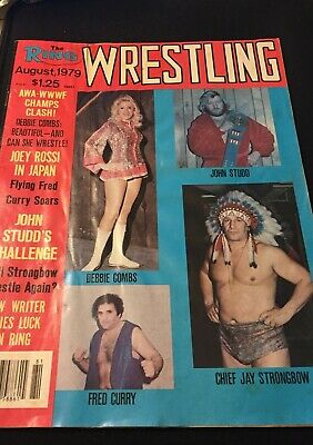 $ CDN12.59 • Buy The Ring Wrestling Magazine August 1979 Studd Strongbow Curry Debbie Combs