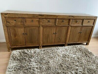 AU1930 • Buy Antique Chinese Cabinet Oriental Sideboard Asian Buffet Table 6 Draws 6 Cupboard