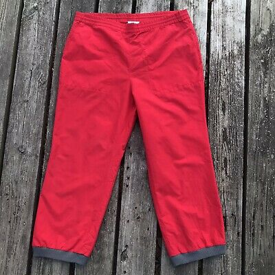 Vintage Izod Lacoste Track Suit Pants Casual Jogger Active Wear Red Mens Medium • 17.44£