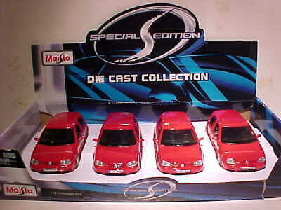 $ CDN48.40 • Buy 4 Pack VW Volkswagen Golf R32 GTI Diecast Car 1:24 Maisto 7inch Red NO BOX Loose