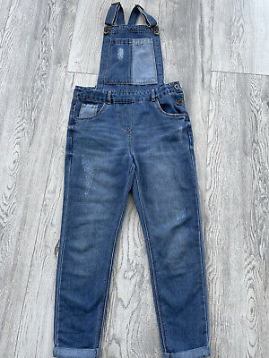 Girls Denim Dungarees Age 10 Exc. Con, Tu, Look Amazing • 6.50£