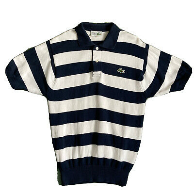Retro Vtg LACOSTE Striped Knitted Polo Shirt Size Size 3 • 22£