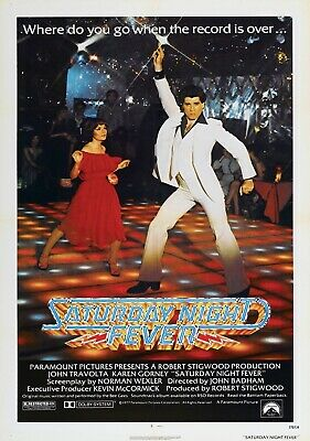 £4.99 • Buy SATURDAY NIGHT FEVER Classic 70's Vintage Movie Poster - Wall Art Print - Grease