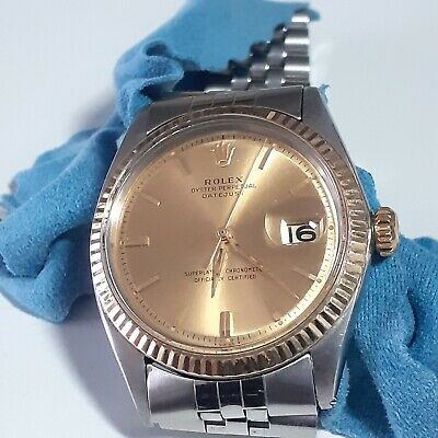 $ CDN5667.72 • Buy Rolex Datejust 36 Mm Two Tone Jubilee Champagne Dial Watch 1601 Circa 1964