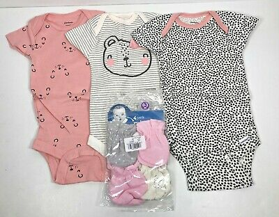 Gerber Onesies Girl, Lot Of 3 Teddy Bear, 0-3 Mo. & 4-pack Mittens, New With Tag • 14.46£