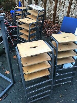 Vintage Remploy Stacking School Lab Stools - Cafe Bar Restaurant 20 Available • 20£