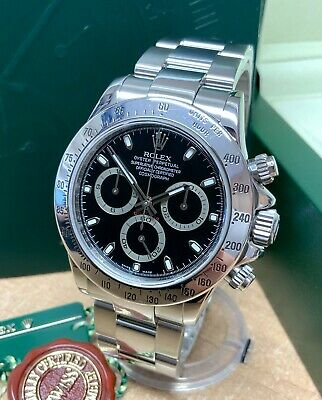 $ CDN26987.79 • Buy Rolex Daytona 116520 Stainless Steel 40mm Black Dial SERVICED BY ROLEX
