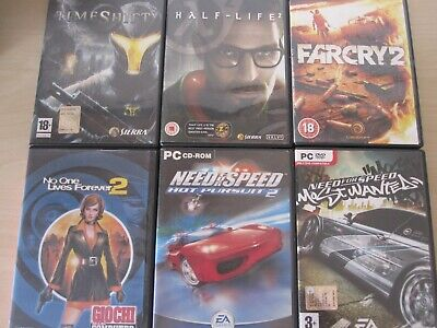 AU35.98 • Buy 5 Giochi X PC: Timeshift - Half-Life 2 - Far Cry 2 - No One... - Need For Speed