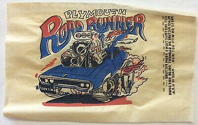 Original Vintage Plymouth Road Runner Car Mini Iron On Transfer • 3.58£