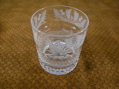 £276.11 • Buy Edinburgh Crystal Thistle Large Old Fashioned Tumblers Set Of 2 In Box