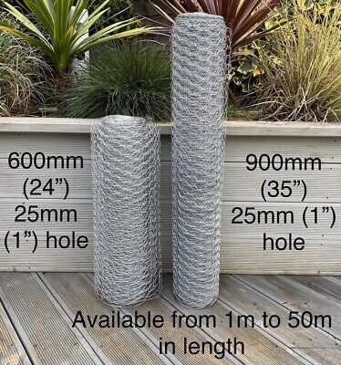 £8.95 • Buy  Galvanised Chicken Wire Mesh Netting Rabbit Cage Aviary Fence Plant Net Fence