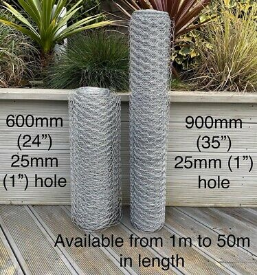 £31.95 • Buy  Galvanised Chicken Wire Mesh Netting Rabbit Cage Aviary Fence Plant Net Fence