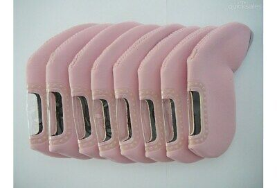AU17.95 • Buy Set Sky Pink Golf Club Iron Head Covers, Fits All Brands Of Clubs