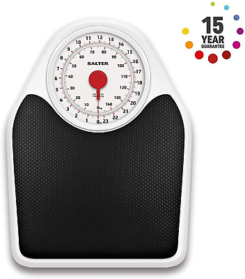 Salter Doctor Style Mechanical Bathroom Weighing Scale Retro White Black • 30.97£