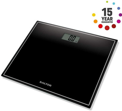 Salter Compact Digital Display Bathroom Weighing Scales Toughened Glass Black • 19.66£