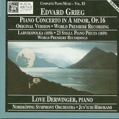 £3.53 • Buy Grieg: Piano Concerto In A Minor, Op. 16 - World Premiere Recording - Music CD -