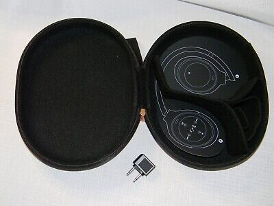Sony Genuine Carrying Case For Headphones WH-1000XM3 Black-Gray + Airplane Plug • 5.45£