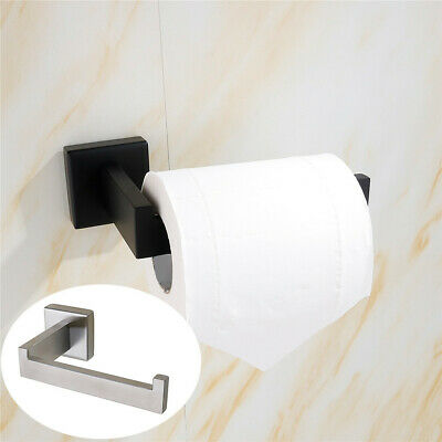 AU19.95 • Buy Wall Mounted Toilet Roll Holder Chrome Round Paper Tissue Stand Home Storage