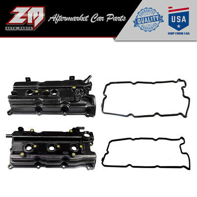 $54.99 • Buy Pair Valve Cover Set W/ Gaskets Fits 02-09 Nissan Altima Maxima Murano Quest I35