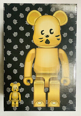 $223.97 • Buy Bearbrick 400% + 100% Gold NYA Bear Medicom Japan NIB