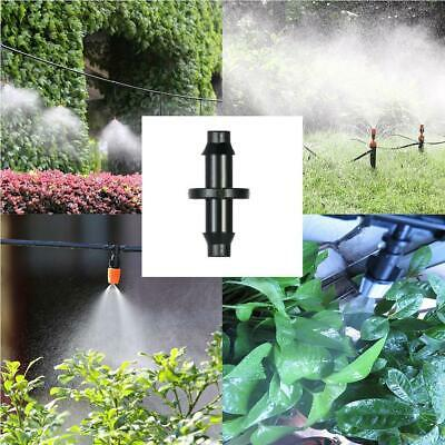 100PCS Plant Watering Drip Irrigation 1/4'' Barb Connector For 4/7mm Hose Pi Pe • 1.75£