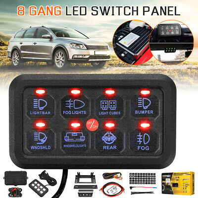 AU182.99 • Buy 8 Gang Switch Panel On-Off Blue LED Touch Control Relay System Car Boat Marine