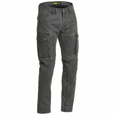 Lindstrands Luvos Motorcycle Motorbike Waxed Cotton Cargo Trousers Grey • 129£