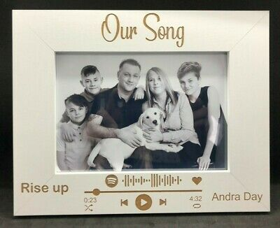 AU23.20 • Buy Personalised Scannable Spotify Photo Frame With Your Choice Photo