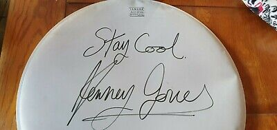KENNEY JONES The Small Faces HAND SIGNED 18 Inch Yamaha DRUM SKIN The Who FACES • 65.99£