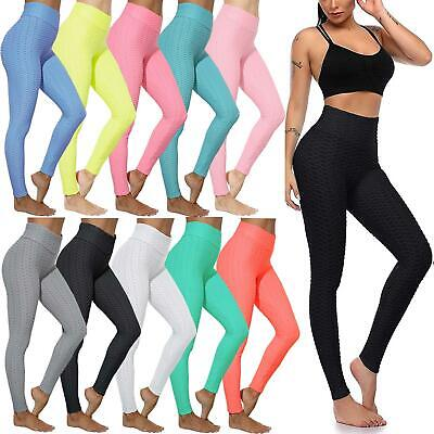 Ladies Honeycomb Anti-Cellulite Leggings Gym Trouser Women High Waist Yoga Pants • 10.99£