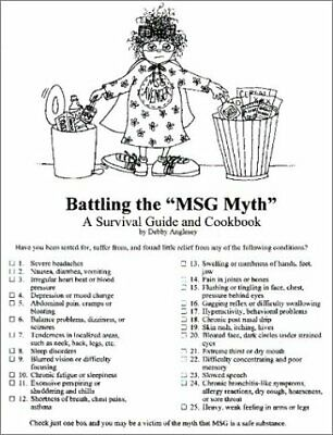 $ CDN42.45 • Buy Battling The MSG Myth By Debby Anglesey (Plastic Comb)