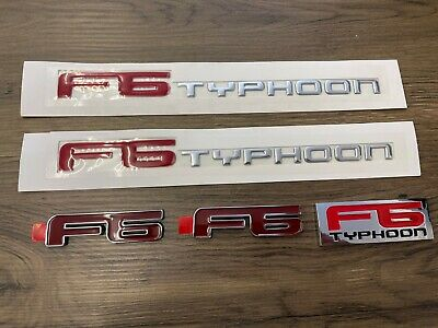 AU75 • Buy FPV F6 Typhoon Bage Set For BA BF Series, Decals Badge For Door/boot/grill