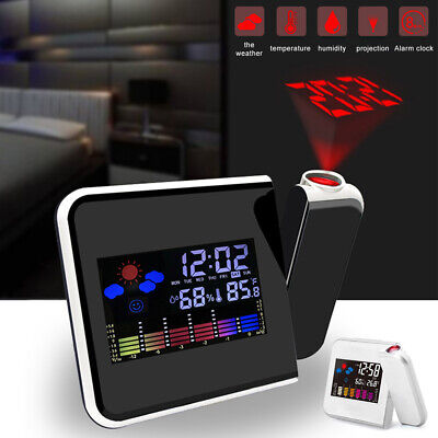 AU16.84 • Buy Alarm Clock Smart Digital LED Projection Temperature Time Projector LCD Display