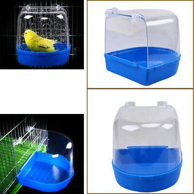 Bird Bath Tub For Pet Birds Cage Hanging Bathtub Bowl Accessory Parrot Parakeet • 9.95£