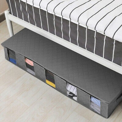 2x Large Capacity Under Bed Storage Bag Box 5 Compartments Clothes Organiser • 12.95£