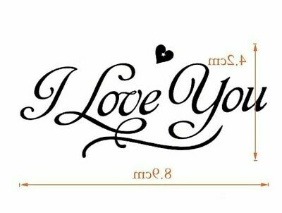 £2.25 • Buy I Love You (with Heart) Waterproof Temporary Tattoo Fake Stickers Women Men Arm