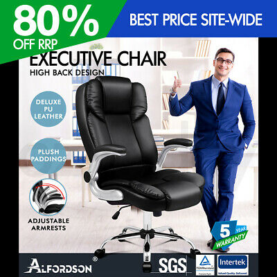 AU139.95 • Buy ALFORDSON Office Chair Executive Computer Gaming Racer PU Leather Work Seat