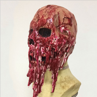 $ CDN19.41 • Buy Latex Face Zombie Cover Adult Size Scary Bloody Halloween Prop Costume FA